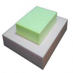 HR 45/50 Schaumstoff Plattenware (hellgrün / weiß)