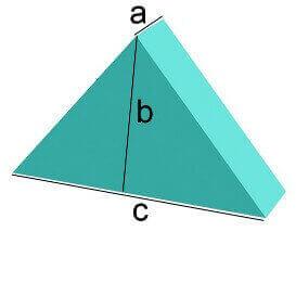 Bezug nach Maß gleichseitiges Dreieck