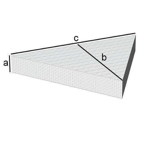 Gleichseitige Dreiecks Matratze
