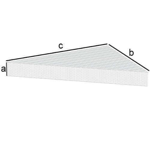 Rechteckige Matratze mit 2 Eckabschnitten