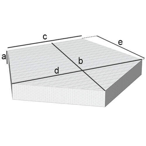 Fünfeckige Matratze
